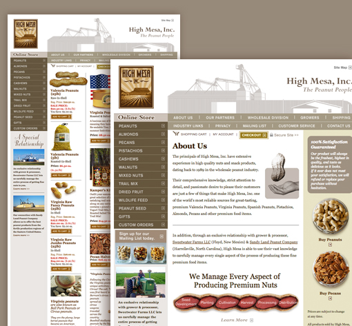 High Mesa Gourment Nuts Website Development
